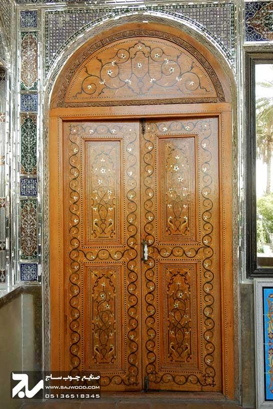 درب چوبی سنتی|باغ نارنجستان قوام شیراز
