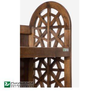 کتابخانه گنجه دار، قفسه کتاب چوبی ، ویترین ، گنجه صنایع چوب ساج مدل 633