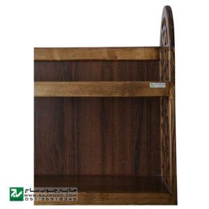 کتابخانه گنجه دار، قفسه کتاب چوبی ، ویترین دکوری صنایع چوب ساج مدل 633