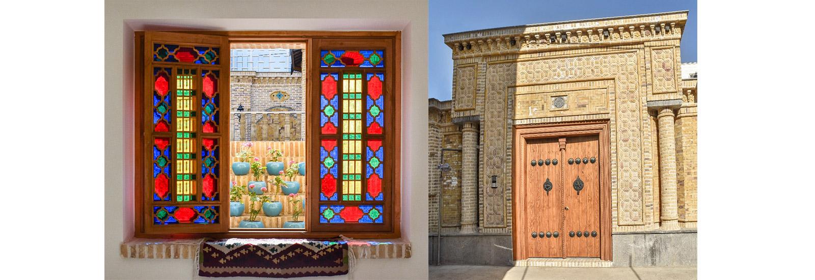 پروژه پنجره قواره بری با شیشه رنگی و چوبی ارسی و پروژه شخصی خیابان چمران مشهد- ایران